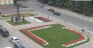 Видеонаблюдение через Интернет - видеокамера на площади Столыпина